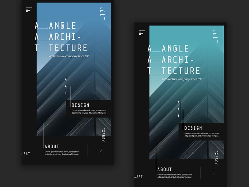 Architecture app «samuel scalzo» graphic blue green daily ui ui design app mobile architecture
