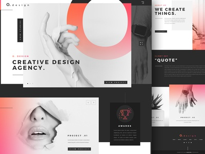Landing Page - Design agency gradient agency clean web ui design « landing page » « samuel scalzo »