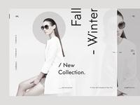 Experimental fashion UI web design