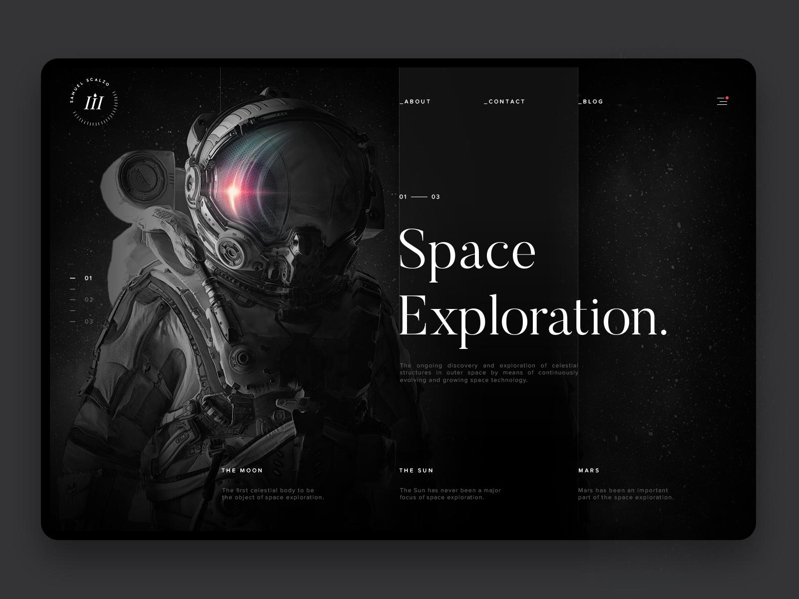 Space exploration webdesign hd