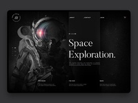 Space Exploration Webdesign