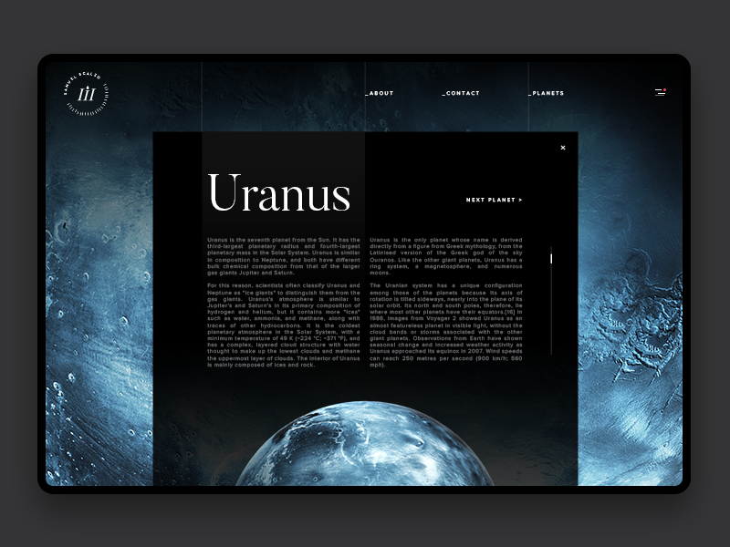 Space exploration uranus zoom