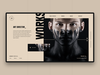 Portfolio Web Concept samuel scalzo work design minimal portfolio clean uiux modern web design