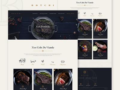 Botchi Web - Products food e-commerce botchi scalzodesign web ui ux landing dark product interface samuel scalzo