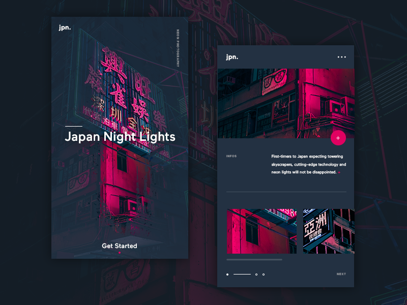 Japan nightlights ui