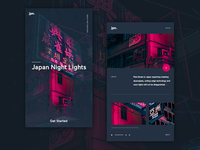 Japan Night Lights UI