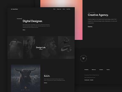 [New] Personal Portfolio interaction web design designer uiux dark website portfolio «samuel scalzo»