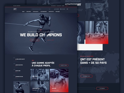 Sport nutrition web design product eshop ecommerce homepage design uiux interface dark nutrition sport webdesign website
