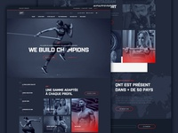 Sport nutrition web design