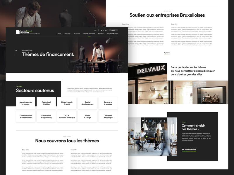 finance.brussels website template corporate design finance business brussels web design « samuel scalzo » web layout