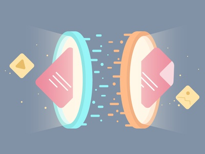 Instant File Transfer idea create illustration widget data transfer instant game file transfer portal