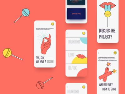 Branding agency identity icon branding app vector logo website minimal typography illustration flat promo grid ui ux design