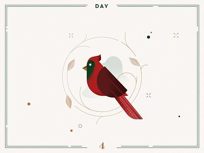 Day 4 🎄🍂Christmas Bird bird birdcount christmas bird count navidad xmas illustration xmas vector illustration minimalist christmas illustration christmas