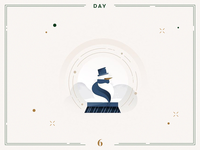 Day 6🎄☃️ Snowball Glass