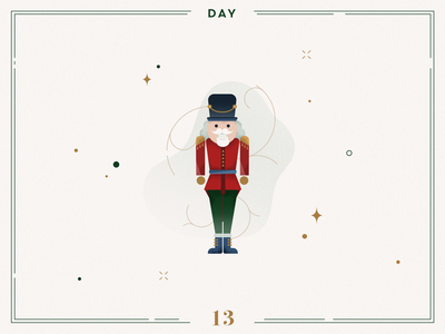 Day 13🎄🏰 The Nutcracker design christmas decoration ilustracion navidad vector navidad advent calendar xmas minimalist illustration christmas illustration christmas