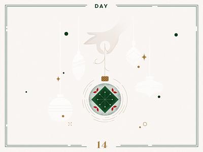 Day 14🎄Christmas Decoration christmas balls christmas tree ilustracion navidad christmas decoration design vector navidad advent calendar xmas minimalist illustration christmas illustration christmas