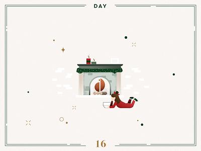 Day 16🎄relaxing fireplace kids reading character design character fireplace ilustracion navidad christmas decoration design vector navidad advent calendar xmas minimalist illustration christmas illustration christmas