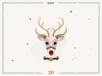 Day 20🎄Rudolph the red-nosed reindeer