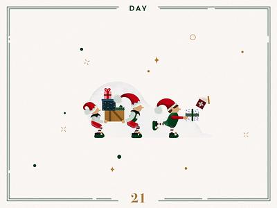 Day 21🎄🎅🏻 Christmas Elves santa elves christmas elves elves character design ilustracion navidad christmas decoration design navidad vector advent calendar xmas minimalist illustration christmas illustration christmas