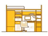 My college — dormitory