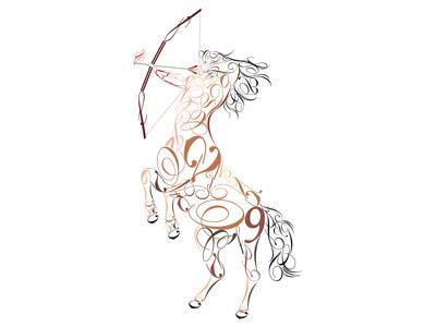 Zodiaco - Sagittario zoccoli uomo cavallo freccia arco fuoco dicembre