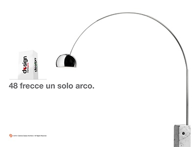 Design memo game frecce acciaio design luce arco light. steel lamp