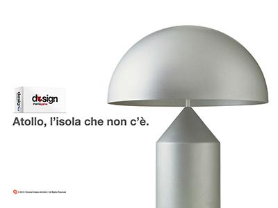 Design memo game design metal gray light lamp atollo