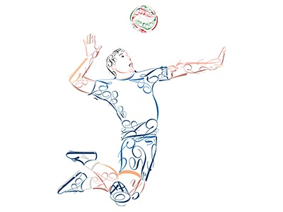 Volley Davide Urbani battuta volley hand mano man carattere type rete elevazione pallone pallavolo