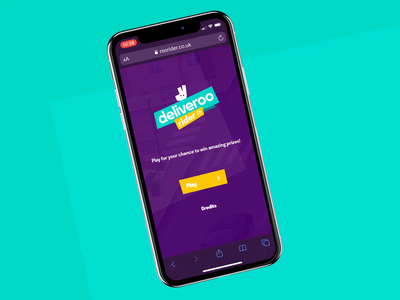 Deliveroo Rider #1 - Mobile Game  🛵🌮 art direction design mobile ui mobile first fun game art mobile delivery app purple turquoise game typography interface branding animation illustration ux design ui design interaction concept art direction