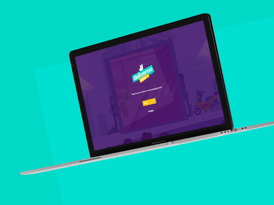 Deliveroo Rider #3 - Desk Version  🛵🌮 mobile first fun game art mobile mobile ui delivery app purple turquoise game typography interface animation branding illustration ui design ux design interaction concept art direction art direction design