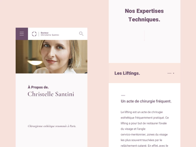 Dr Santini #2 🥼- Mobile scroll & more details doctor animated rose surgery esthetic surgeon medical clean interactive branding webdesign website ux design ui design interface animation typography concept interaction art direction