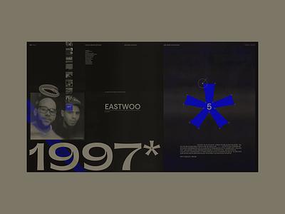 1997—5—* - Layout Grid Explorations #3 french rap hiphop interface minimal street graffiti texture exploration layout website webdesign web design branding grid ui typography concept interaction art direction