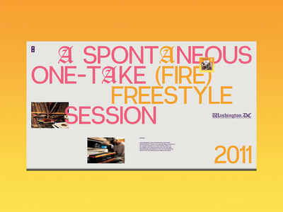 RDF052 - Layout Grid Explorations #2 orange ui design design rap hiphop layout branding colorful exploration web webdesign website grid minimal ui interface typography concept interaction art direction