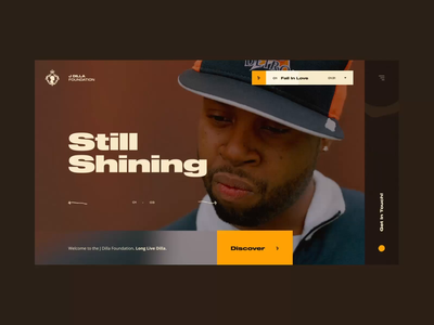 J Dilla Foundation Concept #1 🍩 - Slideshow study / Music player