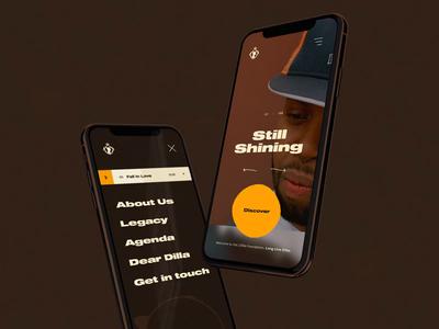 J Dilla Foundation Concept #2 🍩 - Mobile homepage / menu