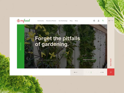 myfood #1 🍅- Scroll / Mouse hover / Interactive slideshow
