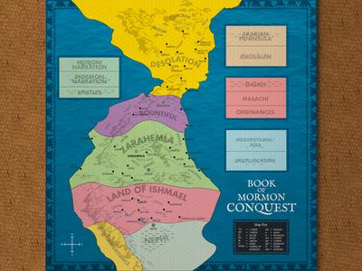 Book of Mormon Conquest Game Board