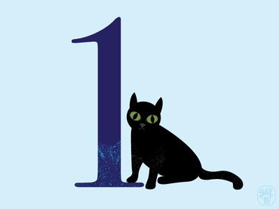 Number Cat - 1