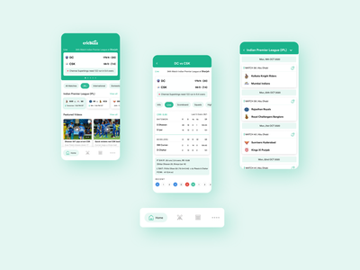 Cricbuzz App Re-design sports branding cricket ui ui design dribbble design