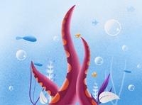 Octopus Under water