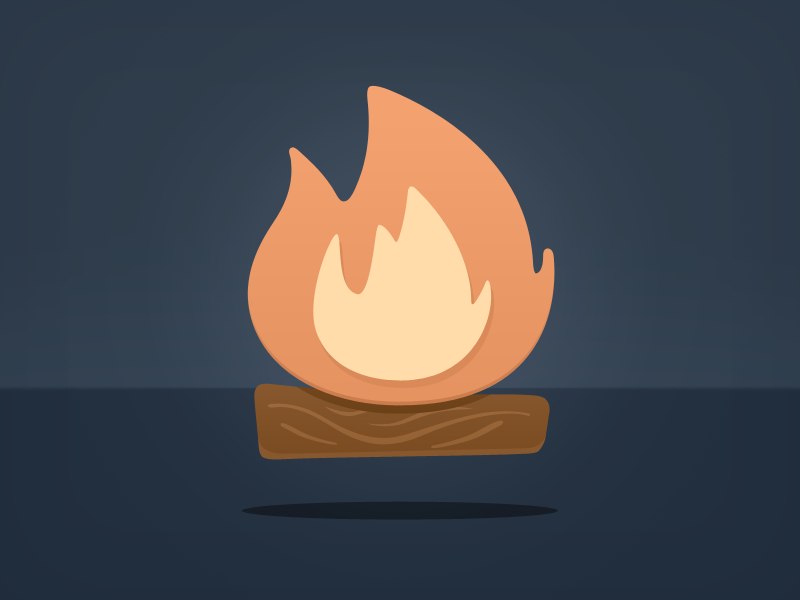 Smore Fire fire smore wood logo icon flame flyers