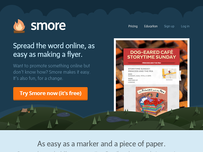 Landing Page landing page smore flat fire flyers flyer