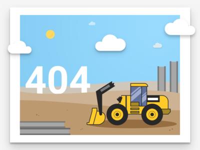 404 clouds vector art ui sketch illustration construction equipment error 404