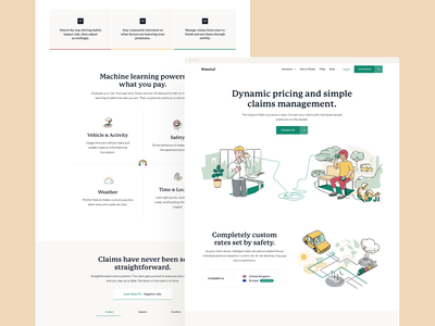 Rideshur – Landing pages landing page web design together london agency beige illustration branding app animation interaction typography clean design uiux ui style ux ui