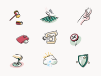 Rideshur – Icons london agency drawing colours vector illustration iconography icon app animation interaction typography clean design uiux ui style ux ui