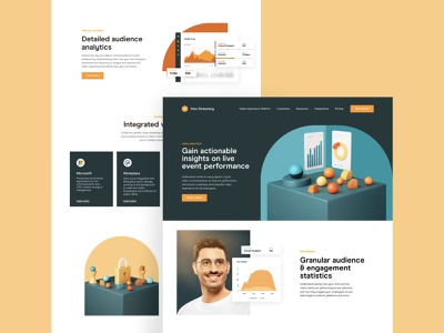 Hive — Product Pages chart product shot photography web web design 3d hive landing page together app interaction typography design clean uiux ui style ux ui
