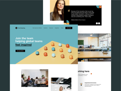Hive — Featured Pages branding 3d website webdesign web animation together app interaction typography design clean uiux ui style ux ui