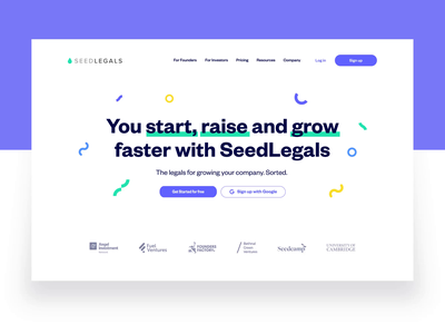 SeedLegals — Homepage together reiss seedlegals purple product shot web webpagedesign webpage landingpage animation after effects clean typography interaction design uiux ui style ux ui