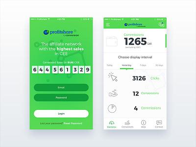 iOS App - UI/UX Design  ux ui redesign app ios profitshare