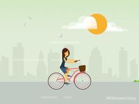 #biketowork